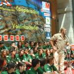 Telmo Aldaz Quadra-Salcedo habla a los expedicionario de Madrid Rumbo al Sur[1]. Foto Mar Aldaz