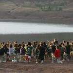 MADRID RUMBOA AL SUR 2009  GIMNASIA JUNTO AL LAGO ISLI EN IMICHIL