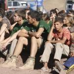 MADRID RUMBOA AL SUR 2009  TALLERES EN EL CAMPAMENTO EN EL LAGO ISLI