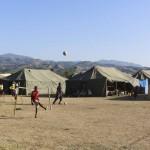 Terremoto en Haiti.  Campamento Venezolano para los damnificados del seismo