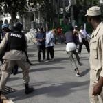 Policia Haitiana persigue a ladrón. Foto.JL.Cuesta
