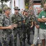 LLegada al cuartel del ejercito Canarias 50