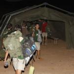 Acampada en las instalaciones del cuartel del ejercito Canarias 50