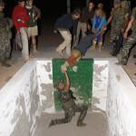 Haciendo la Pista americana nocturna con los soldados del cuartel Canarias 50