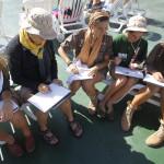 Talleres y curso academico en el barco