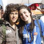 Maria y Clara, encargadas de las cronicas y equipo de apoyo
