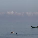 Pescadores en Cala Iris, Alucemas