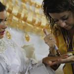 Simulacro de boda Bereber de unos expedicionarios y fiesta de bienvenida