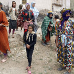 Nomadas bereberes en el lago Tisli, en Imichil