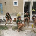 Comida en el refugio de Ibrahim