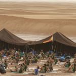 Amanecer en el campamento de las dunas de Chegaga