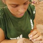 Figuras con el limo del Oued donde se monto el campamento