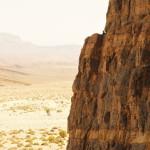 Vista de la pared de los grabados rupestres de Immaouine