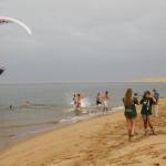 Marcha y ba–o en el lago Naila