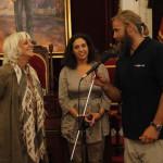 Recepcion con Teofila Martinez, alcaldesa de Cadiz