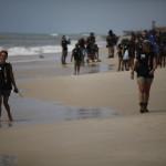 Expedicion Madrid Rumbo al Sur 2011 Paseo por la playa de Saint Louis
