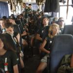 Expedicion Madrid Rumbo al Sur 2011 Expedicionarios en el bus
