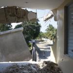 Terremoto en Haiti.  Vista desde el interior de una casa de Puerto Principe